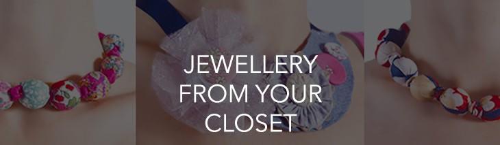 fabric jewellery designing