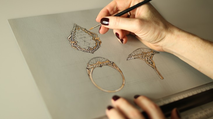 illustration in jewellery designing