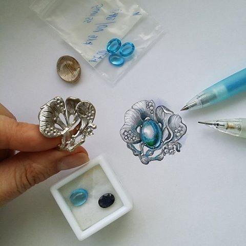 jewellery design illustration