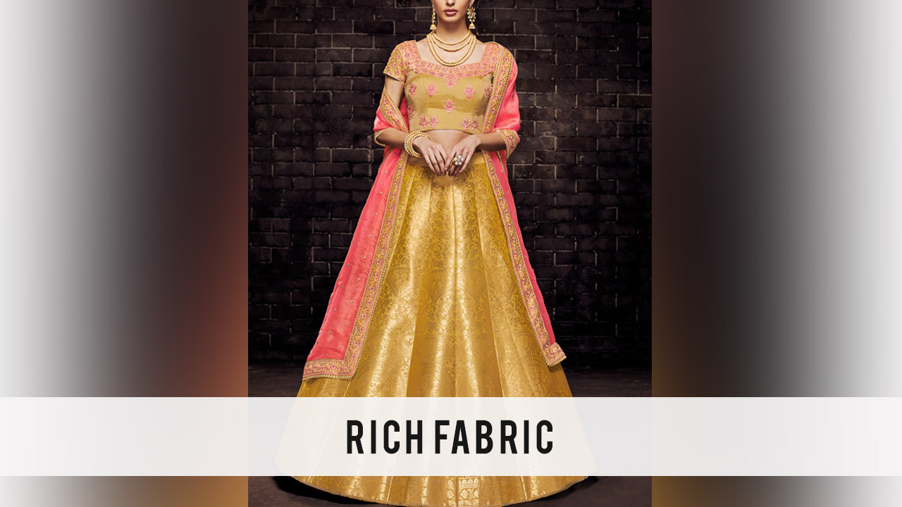 3 Types Of Fabrics Used To Make Lehengas In Fashion Design