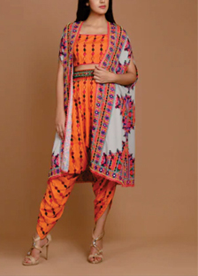 Fusion Fashion_ Dhoti Pant and Cape