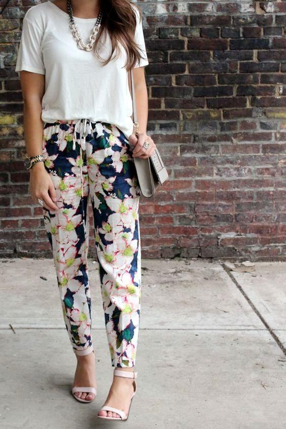 Bold Print Pants